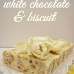 White chocolate & buiscit bar