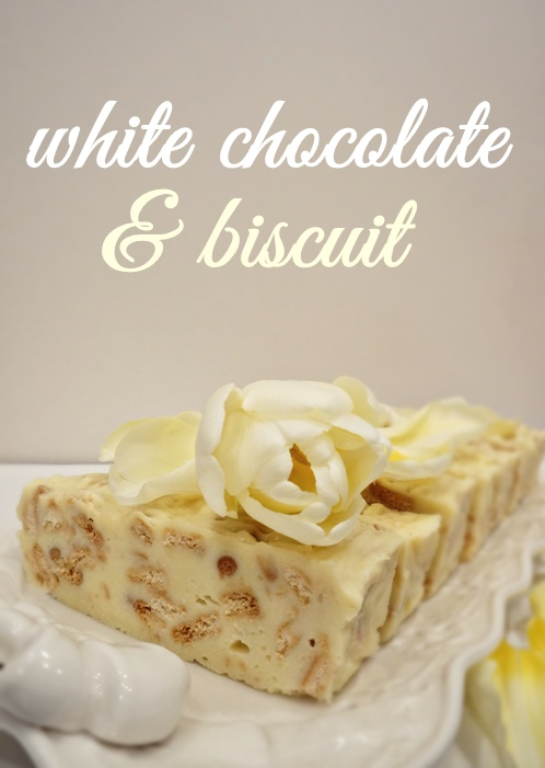 white chocolate & biscuit bar